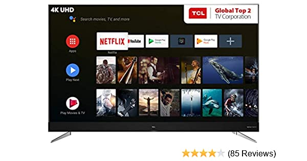 TCL 163 8 cm (65 inches) 4K Ultra HD Smart Certified Android LED TV L65C2US  (Black)