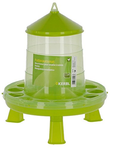 Kerbl Futterautomat mit Stand-Füßen, für Geflügel (Küken/Hühner/Enten), lebensmittelecht (2 kg)