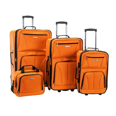 rockland-luggage-deluxe-4-piece-luggage-set-orange