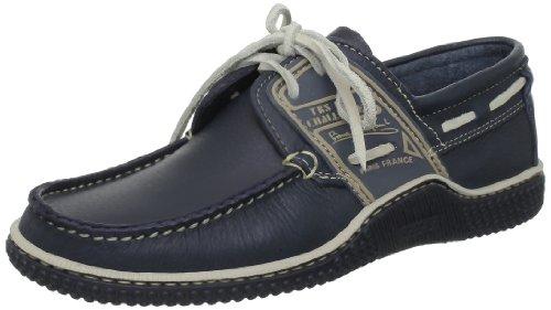 TBS Globek, Chaussures Bateau Hommes, Rouge (Rouge/Encre), 39 EU Bleu (Marine+Froment)