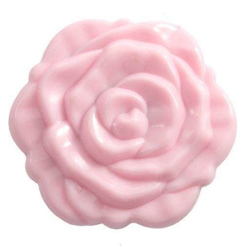 SODIAL(R) Miroir R¨¦tro St¨¦r¨¦oscopique de Forme Rose en Couleur de Rose pour les Femmes