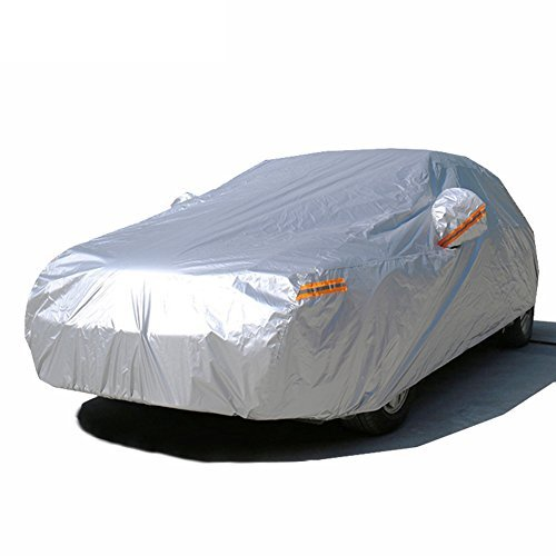 Kayme autoabdeckung vollgarage wasserdicht sonnenschutz stoff xxl für winter & sommer indoor outdoor Größe (4.60x1.85x1.70 M) Passend für Geländewagen suv YM