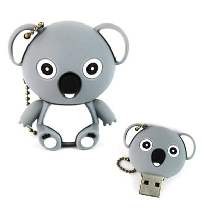 Yoousb - chiavetta usb con koala, 16 gb, colore: grigio-blu