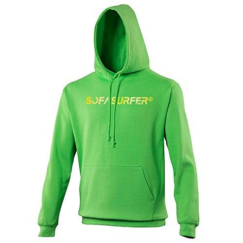 Sofasurfer® Hoodie Kapuzensweatshirt mit Druck Sweatshirt , Größe:XS, Farbe:Lime Green - Lime Green Hoodie Männer