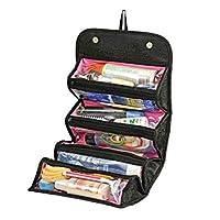 Roll N' Go Makeup Tools Travel Bag, Black