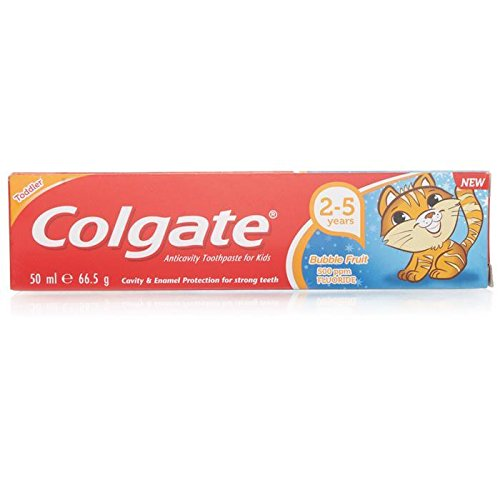 Colgate Bubble Fruit Toothpaste, 50ml, 2-5Y (Multicolour)