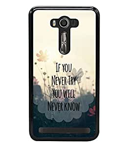 printtech Cool Quotes Life Back Case Cover for Asus Zenfone 2 Laser ZE500KL , Asus Zenfone 2 Laser ZE500KL (5 Inches)