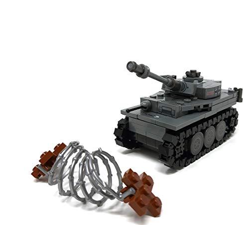 Modbrix 2487 – ☠ Bausteine Tiger Panzer XX Panzerdivison inkl. Custom Elite Wehrmacht Soldaten aus Lego© Teilen ☠ - 4
