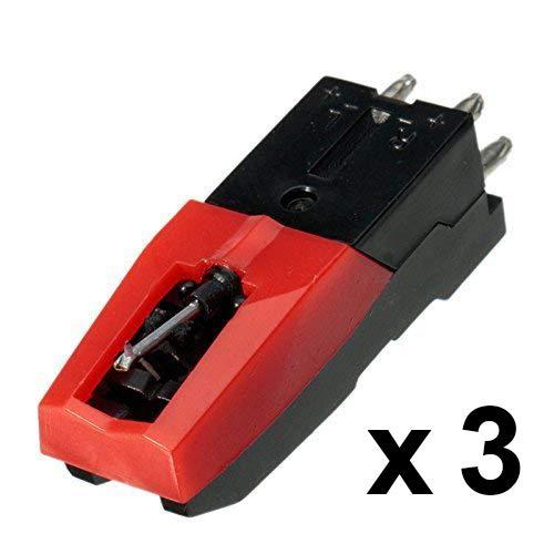DIGITNOW! Packung von 3 - USB Plattenspieler Ersatznadel Neu Saphirspitze Nadel 33 45 und 78 U/min Schallplatten LP Audio Spieler Ersatzteil