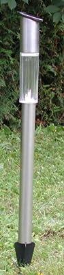 LED Solarleuchte Solarlampe 70 cm Edelstahl von Solar - Lampenhans.de