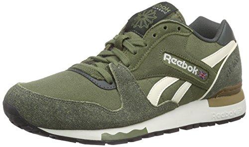 Reebok Herren Gl 6000 Nd Low-Top Grün (Canopy Green/Dk Sage/Creamwht/Sepia/Chalk/Blk)