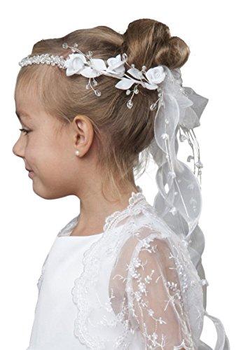 deine-Brautmode Haarkranz Kranz Kommunion Kommunionhaarkranz Haarschmuck Kristallsteinchen Modell F2