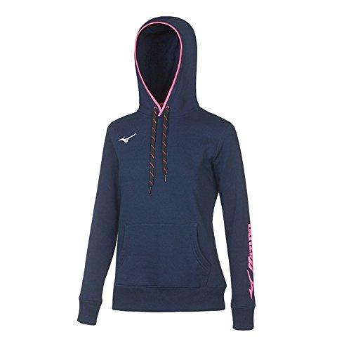 Mizuno Damen Sweatshirt Blu-Navy Medium -