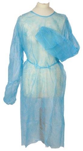 Es fácil de Tiga estándar de control de, juego de 50 con texto en inglés de la no-diseño de tejido y con desechables para pies y piernas azul los vestidos, de protección de para pantalones de peto. Del tamaño de la de gran tamaño para, 120 cm x 155 cm, de la calidad de tamaños estándar de la Tiga-Med