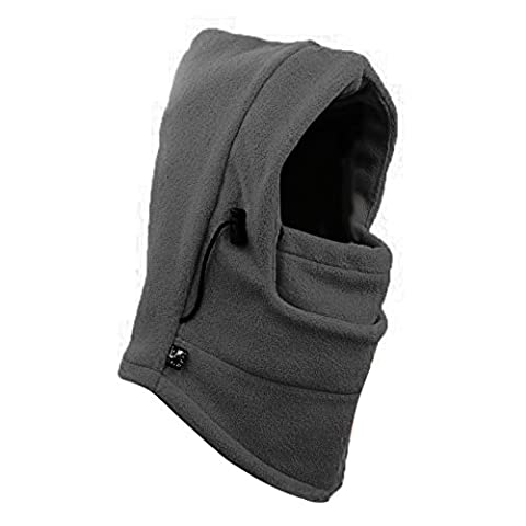 Butterme Thermal Fleece Balaclava Hood Face Mask Police Swat Ski Bike Wind Stopper Full Face Hats Neck Warmer Windproof Outdoor Winter Sports Snowboard Riding Hat (Green)