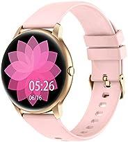 YAMAY Smartwatch, Reloj Inteligente Pulsómetros para Mujer Hombre, Pulsera de Actividad Inteligente Impermeabl