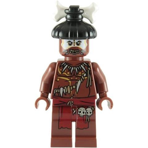 LEGO Piratas Del Caribe: Cannibal Con Color Blanco Cara Minifigura