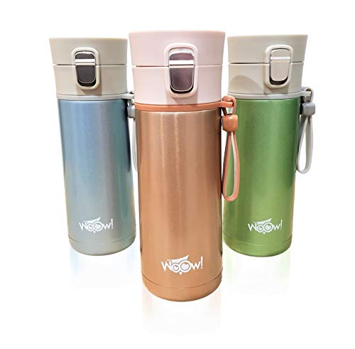 Travel Mug for Coffee, Tea, Water | Vacuum Insulated Stainless Steel Coffee Cup | BPA Free | Thermal Mug for Hot and Cold Drinks | Leakproof Coffee Mug with Cleaning Brush | 350ml and 500ml
