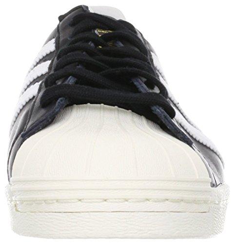 Anni '80 Adidas Scarpe Uomo Ginnastica 1 Gesso Superstar Nero Bianco 2 black aafUqw