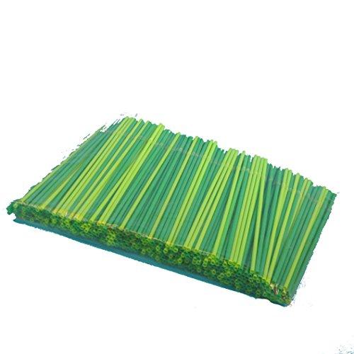 me Bio Strohhalme Bio Trinkröhrchen Flexibel mit Knick aus Bio Kunststoff PLA Grün Ø5mm 24cm Lang ()
