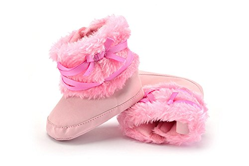 SUPER-BAB , Chaussures premiers pas pour bébé (fille) rose clair 11cm rose clair