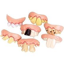 Dientes falsos NUOLUX dientudas fiesta de disfraces horrible broma Fake dientes - 5 pcssatz (Diseño