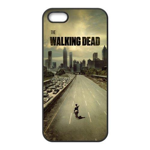 The Walking Dead Design Durable TPU Coque de protection pour Apple iPhone 55S, iPhone 5S, iPhone 5/5S Coque Cover Case (Blanc/Noir)