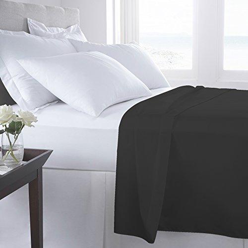 Flach Bettwäsche Perkal 100% ägyptische Baumwolle-180Fadenzahl Bettwäsche, Eiffel Tower Grey, Single (199x260 cm) - Ägyptische Baumwolle Single