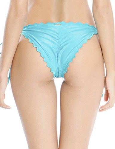 RELLECIGA Damen Bademode Bikini Unterteil mit Schnürchen Bottom Ruffle Baby Blau