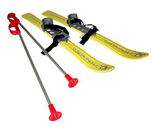 Plastkon Baby Ski 2012 - Fijaciones de esquí alpino, color amarillo, talla 90 cm