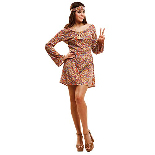 My Other Me Me-201989 Disfraz de Hippie psicodélica para Mujer, Color Morado, M-L (Viving Costumes 201989)