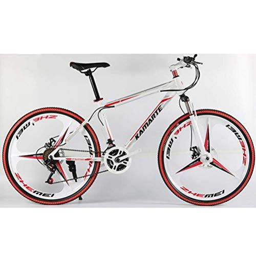 WJSW 24-Zoll-Mountainbike mit Offroad-Dämpfung, 27-Gang-Fahrrad für Pendler (Farbe: C)