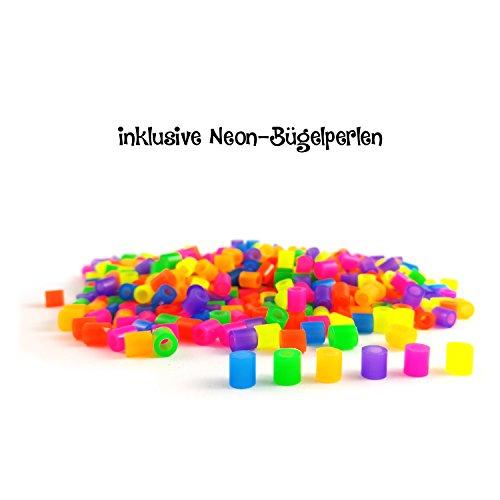 Bastelbär - 10.000 Bügelperlen - inkl. 4teilige Jumbo-Steckplatte und Neon-Perlen von Bastelbär