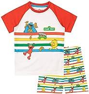 Sesame Street Pijamas de Manga Corta para niños
