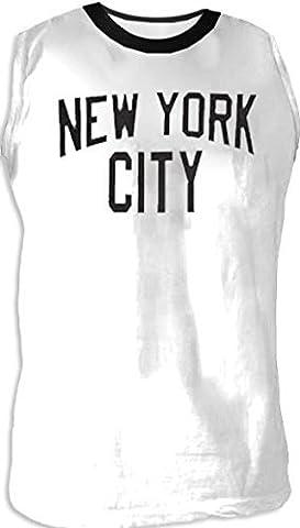 TV Store John Lennon NYC New York City Walls and Bridges Pose Cut-Off weiß T-Shirt (Medium) (Medium Cut Off Wall)