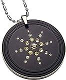 Magnaz Quantum Scalar Energy Pendant with CZ Stone Unisex Black Pendant Lava