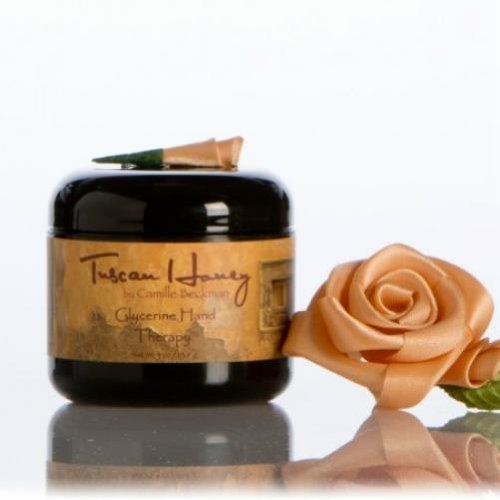 Camille Beckman Glycerin (Camille Beckman Glycerine Hand Therapy Cream 4 oz - Tuscan Honey Scent by Camille Beckman)