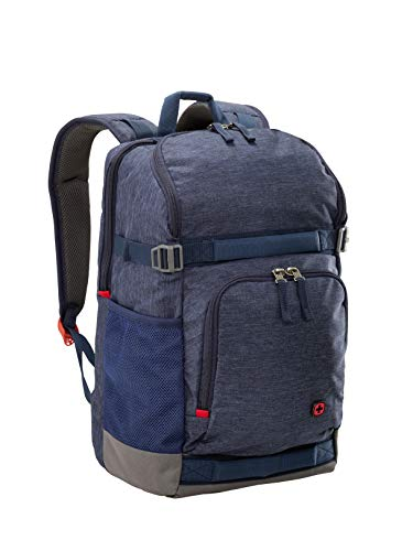 "Wenger 602657 StreetFlyer 15,6"" Laptop-Rucksack, gepolsterte Laptopfach mit iPad/Tablet/eReader Pocket in Denim"