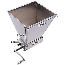 Vogvigo Trituradora de granos 100% Nuevo Molino de malta inoxidable Rodillos Máquina doméstica casera Molino de grano para hacer cerveza (Plateado)