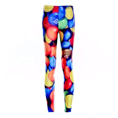 PFJWFE Mode Pille Candy Regenbogen Druckt Sexy Mädchen Bleistift Hosen Strech Slim Fitness Frauen Leggings Plus Größe Candy Tech