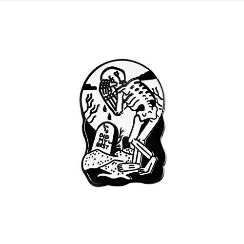 einen Skelelton Pins Broschen Revers Pins Abzeichen Punk Halloween Skelett Schmuck ()