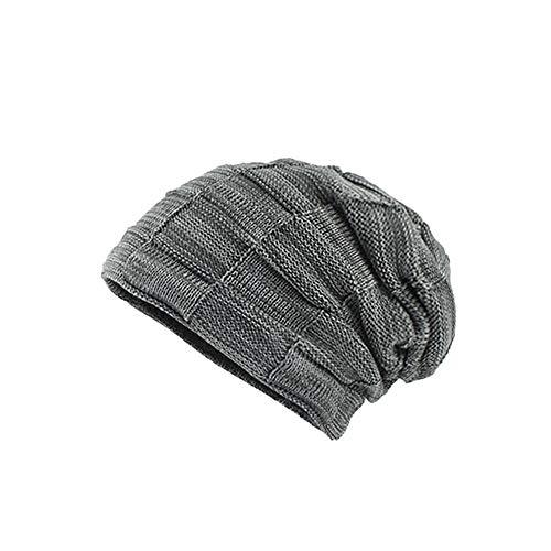 (UJUNAOR Männer Frauen Tarnen Mütze Herbst Winter Kopfbedeckung Warme Baggy Camouflage Crochet Ski Beanie Caps Hut (Medium, Z2-Grau))