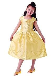Princesas Disney -  Disfraz de Bella para niña, infantil 5-6 años (Rubie