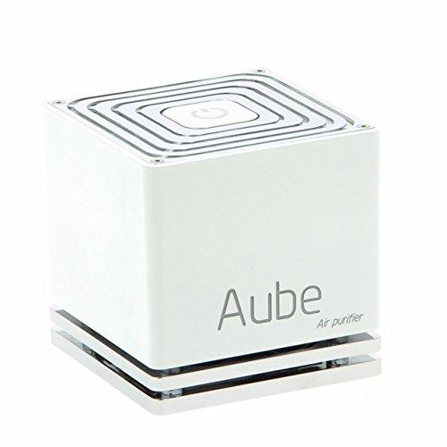 Aube ® - Purificateur d'air Design, Compact et Connecté - Sans-filtre, silencieux et GARANTI 3 ANS (Blanc)
