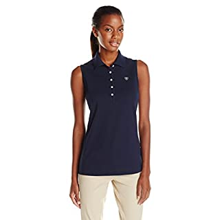 Ariat Womens Prix Sleeveless Polo : Navy Eclipse: Large
