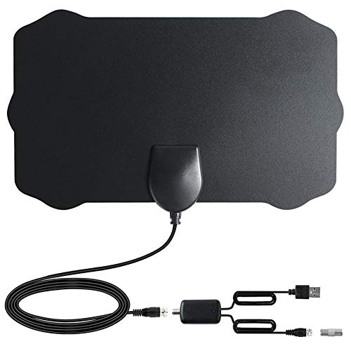 feiledi Trade TV Antenne 120 Meilen Antenne Digital HDTV Indoor TV Antenne mit Verstärker Signal Booster TV Radius Surf Fox Antenne HD TV Antennen Empfang mit 1080P VHF/UHF Vhf-antennen-booster