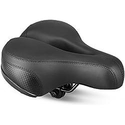 Landnics Selle Vélo Siège de Vélo Confortable avec Creux Coussin Respirant Rembourrage en Mousse Siège Vélo/VTT avec Bande Réfléchissante Bike Seat Saddle Bicyclette Cyclisme