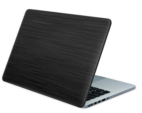 """Skins4u Laptop Aufkleber Universal Skin Netbook Sticker für bis zu 15,6"""" Displays in 38,1x26,7cm - Black Woodgrain"""