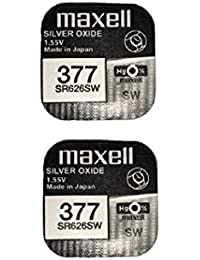 2 x Maxell Silver Oxide Watch Single Use Battery Batteries SR626SW/377/AG4/626