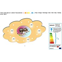Babyleuchte Eule mit Schlummerlichtfunktion / Farbe: Hellorange (auch in anderen Farben erhältlich) Kinderlampe Kinderzimmerlampe Babyleuchte Kinderlampen Deckenleuchte Nachtlicht